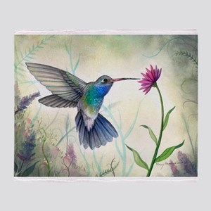 Sweet Nectar Hummingbird Throw Blanket